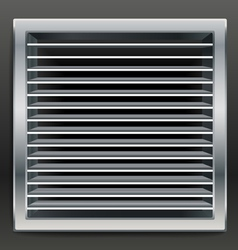 Photorealistic bathroom ventilation window vector
