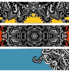 Abstract banner hippie vector