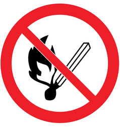 No naked flames safety sign vector