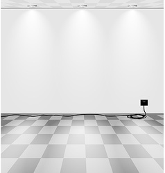 Grey room with cord vector