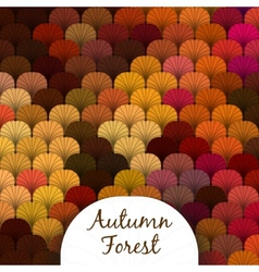 Autumn forest scaly texture vector