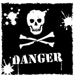 Danger icon black and white vector