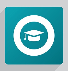 Flat education icon vector