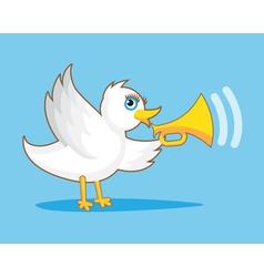Bird with horn vector