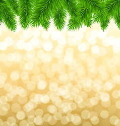Fir tree border vector