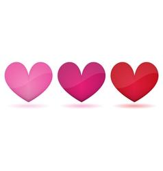 Heart symbol isolated vector