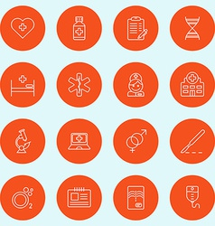 Set of thin line medicine and healthy icons vector