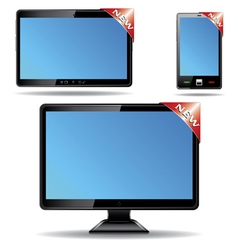 Monitor tablet vector