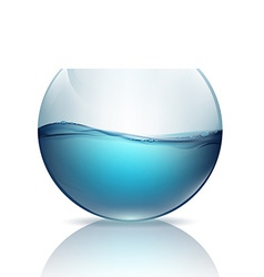Fishbowl with water isolated on a white background vector
