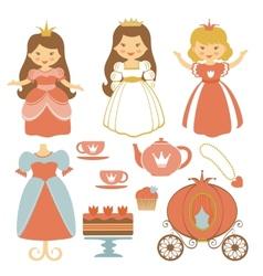 Princess tea party vector
