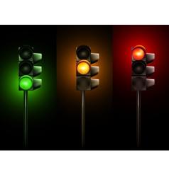 Traffic lamps vector