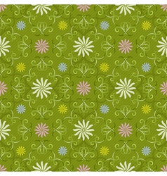 Seamless spring green pattern vector