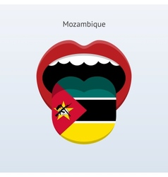 Mozambique language abstract human tongue vector