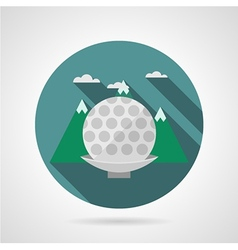 Flat icon for golf ball vector