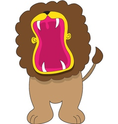 Lion big mouth vector