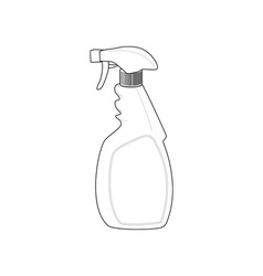 Spray bottle cleaner vector