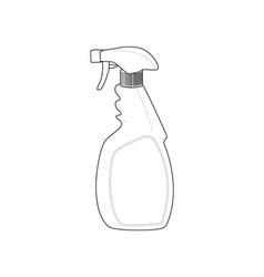 Spray bottle cleaner vector