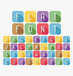 Modern colorful flat font set vector