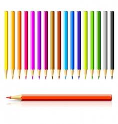 Color pencils vector