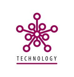 Logo tech chip star vector