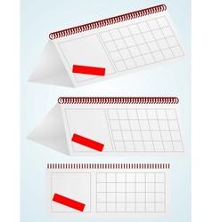 Desktop calendar vector