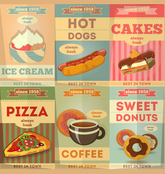Food poster set vector