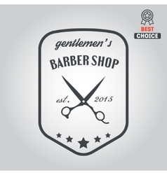 Logo icon or logotype for barbershop vector
