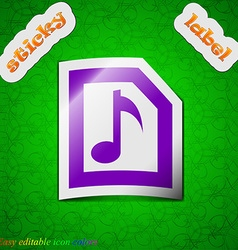 Audio mp3 file icon sign symbol chic colored vector