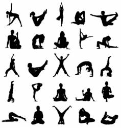 Yoga positions vector
