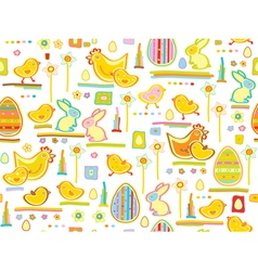 Easter seamless background vector