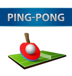 Table tennis pingpong rackets emblem vector