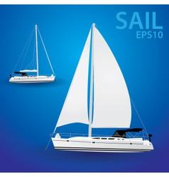 Sailing boat eps10 vector