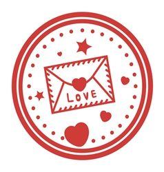 Romantic stamp design vector