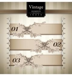 Vintage style bar graph vector