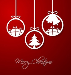 Merry christmas hanging decorative ball vector
