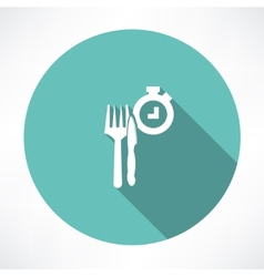 Time to eat icon vector