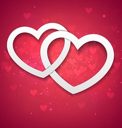 Red heart background vector