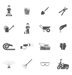 Lawn man icon set vector