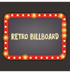 Retro billboard vector