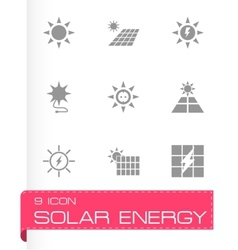 Solar energy icon set vector