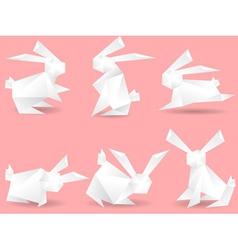 Paper rabbits vector