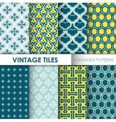 Vintage tile backgrounds vector