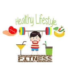 Healthy lifestyle and fitness vector