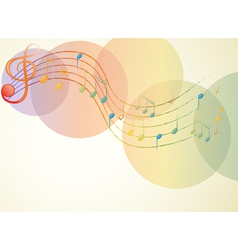 The g-clef and the musical notes vector