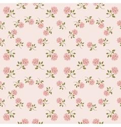 Pink vintage rose pattern seamless vector