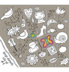 Doodle design elements vector