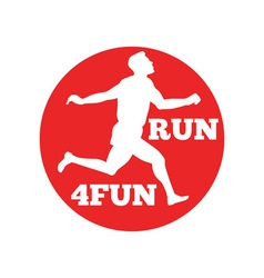 Marathon runner run 4fun race vector