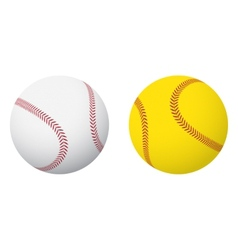 Baseball and softball balls vector