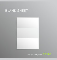 Blank folded paper sheet vector