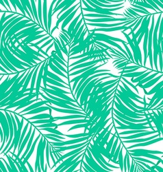 Tropical lush palms seamless pattern vector